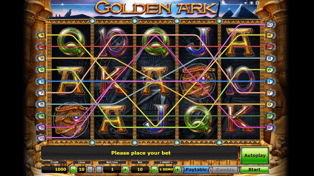 Характеристики слота Golden Ark 7