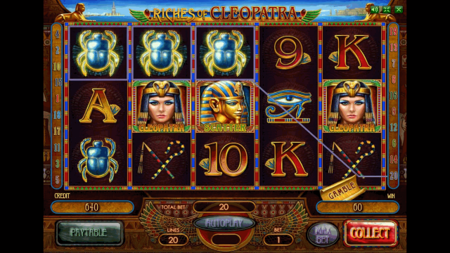 Характеристики слота Riches Of Cleopatra 2