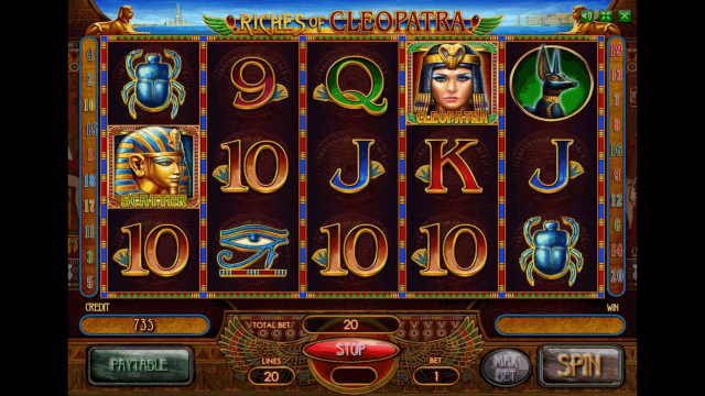 Характеристики слота Riches Of Cleopatra 3