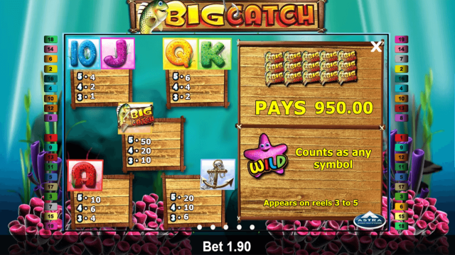 Характеристики слота Big Catch 6