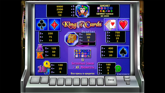 Бонусная игра King Of Cards 6